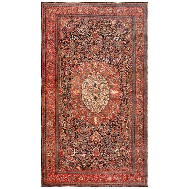 Antique Persian Sarouk Farahan Rug For Sale