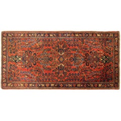 Antique Persian Sarouk Oriental Rug with Floral Design, circa 1920 in Small Size