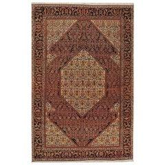 Antique Persian Sarouk Rug Carpet, circa 1880, 4'2 x 6'7