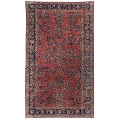 """Antique Oversize Persian Sarouk Rug, circa 1900 10'5"""" x 17'6""""."""