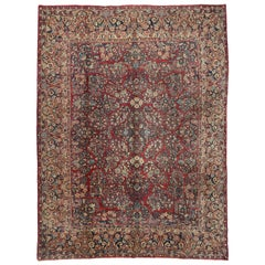 Antique Persian Sarouk Rug with Art Nouveau Style
