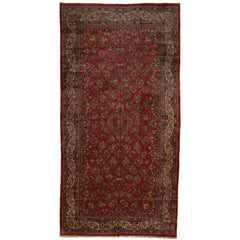 Antique Persian Sarouk Rug with Art Nouveau Style, Persian Gallery Rug