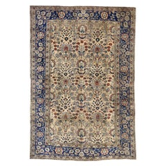 Antique Persian Sarouk Rug with Italian Country Cottage Style
