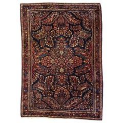 Antique Persian Sarouk Rug with Luxe Victorian Style, Scatter Rug