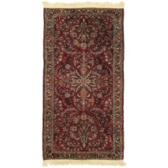Antique Persian Sarouk Rug with Traditional Style