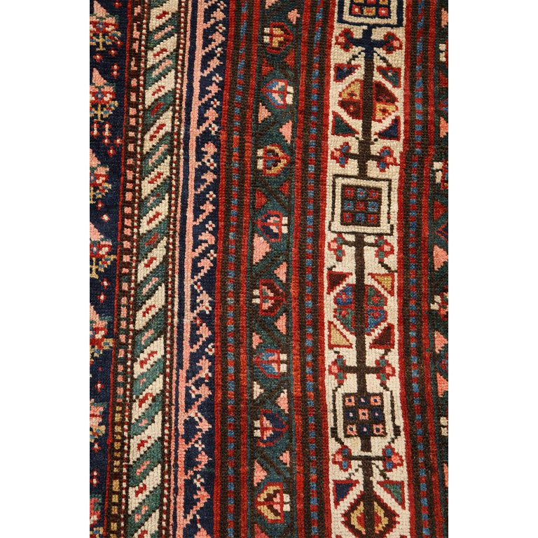 Antique Persian Senneh Carpet in Handspun Wool and Vegetable Dyes 5' x 8' For Sale 6