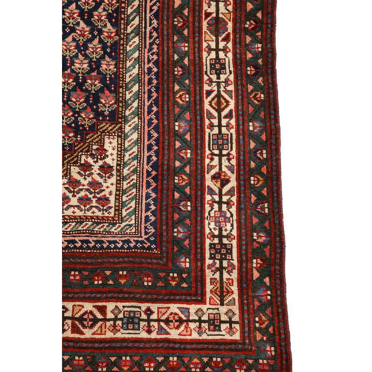 Antique Persian Senneh Carpet in Handspun Wool and Vegetable Dyes 5' x 8' For Sale 3