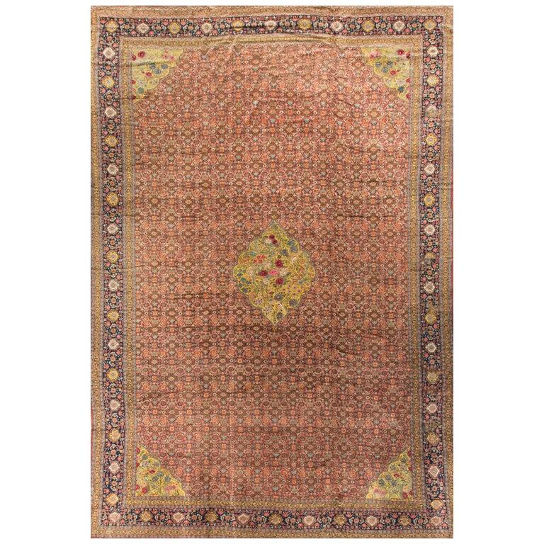 Antique Persian Senneh Rug Carpet, Circa 1890 For Sale At