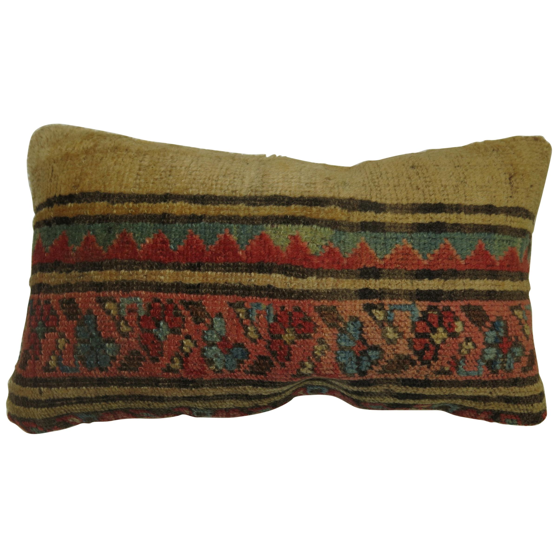 Antique Persian Serab Bolster Rug Pillow