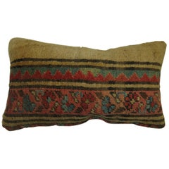 Antique Persian Serab Bolster Rug Pillow