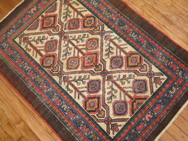 Tribal Antique Persian Serab Decorative Rug Mat For Sale