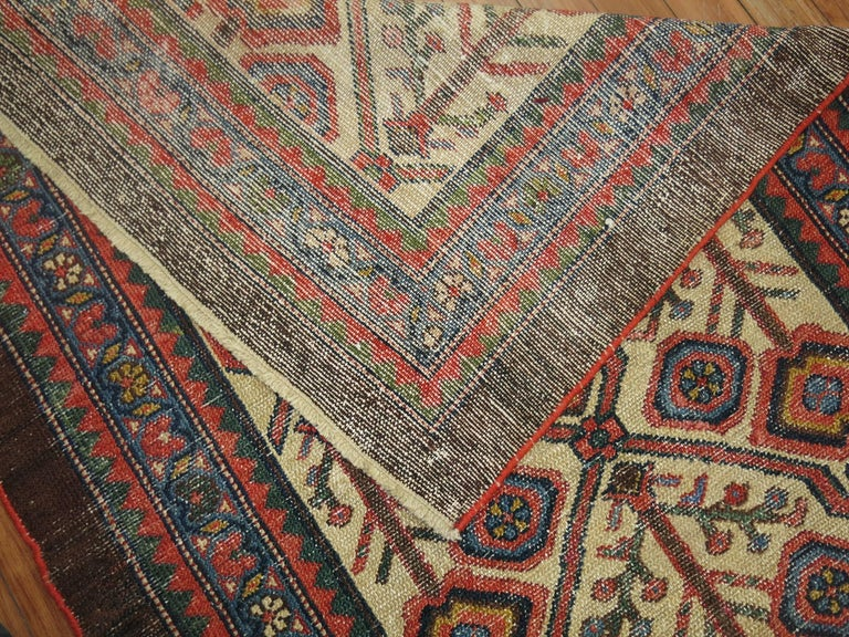 Antique Persian Serab Decorative Rug Mat In Excellent Condition For Sale In New York, NY