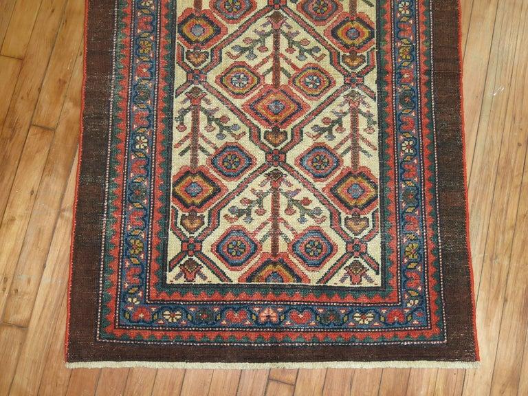 20th Century Antique Persian Serab Decorative Rug Mat For Sale