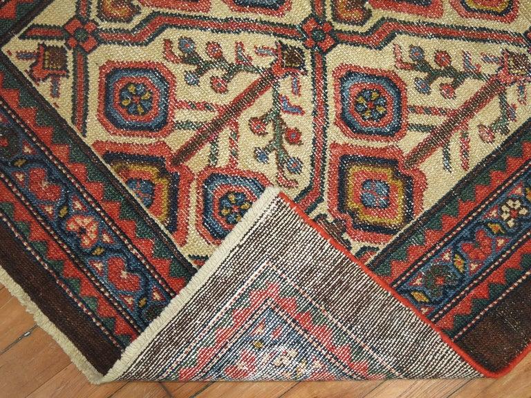 Wool Antique Persian Serab Decorative Rug Mat For Sale