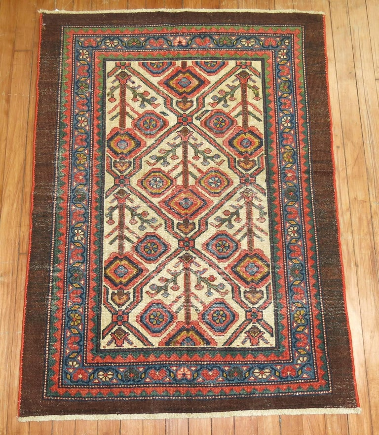 Antique Persian Serab Decorative Rug Mat For Sale 1