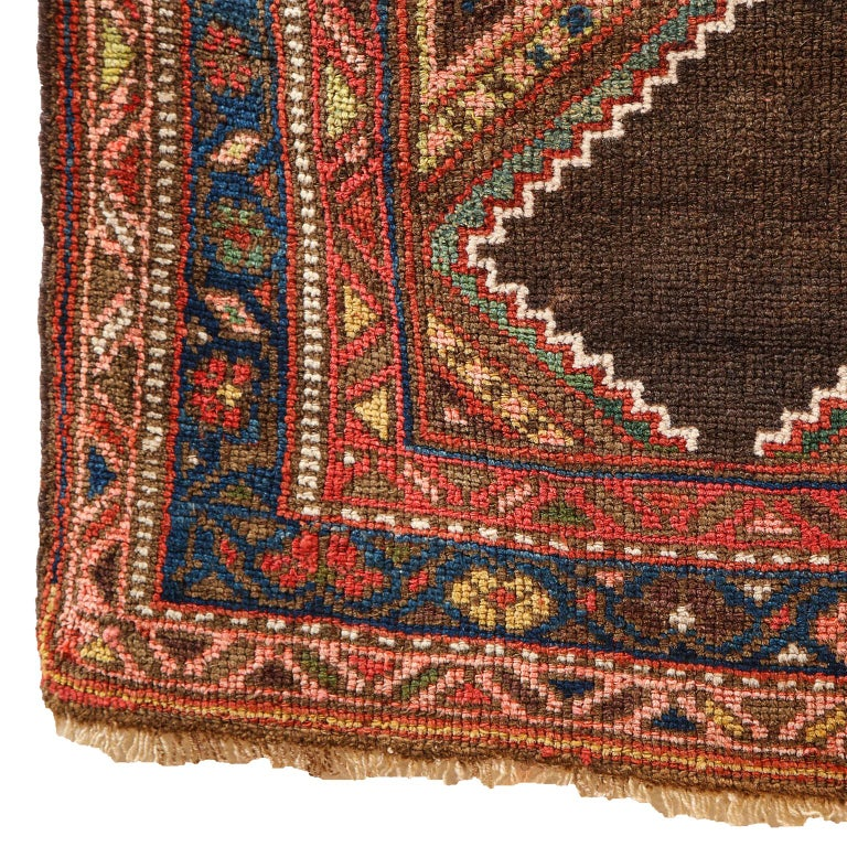 Antique Persian Seraband Carpet in Pure Wool and Vegetable Dyes, circa 1900 For Sale 5