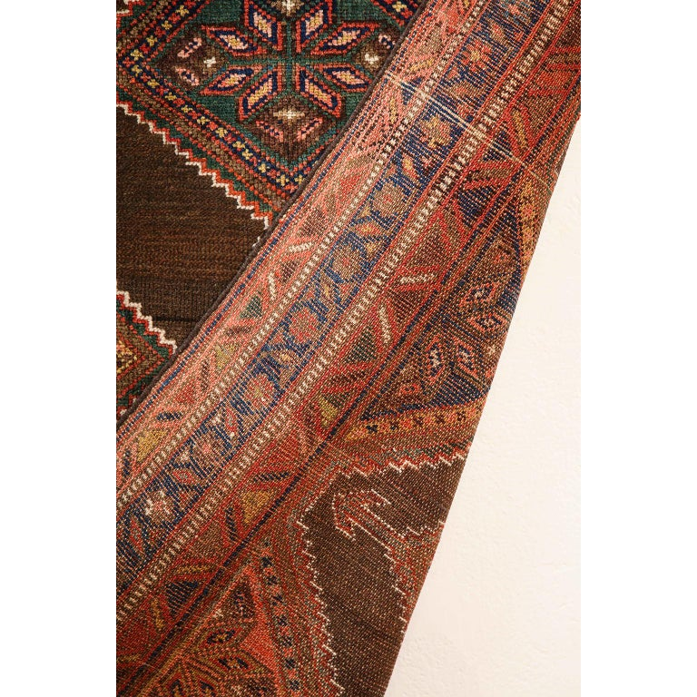 Antique Persian Seraband Carpet in Pure Wool and Vegetable Dyes, circa 1900 For Sale 6