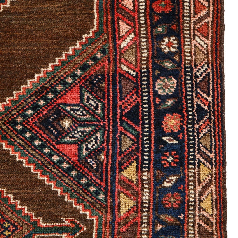 Antique Persian Seraband Carpet in Pure Wool and Vegetable Dyes, circa 1900 For Sale 1