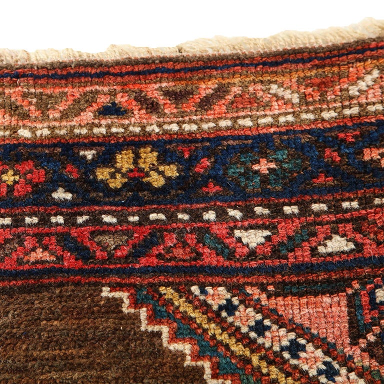 Antique Persian Seraband Carpet in Pure Wool and Vegetable Dyes, circa 1900 For Sale 4