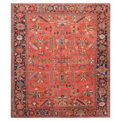 Antique Persian Serapi Area Rug. 9 ft 7 in x 11 ft 3 in