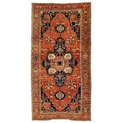 Antique Persian Serapi Carpet, circa 1880-1900