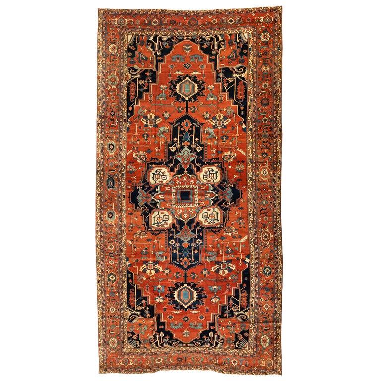 Antique Persian Serapi Carpet, circa 1880-1900 For Sale