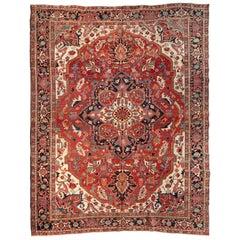 Antique Persian Serapi Carpet, circa 1900-1910