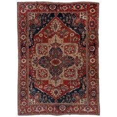 Antique Persian Serapi Carpet, circa 1900s