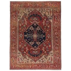 Antique Persian Serapi Carpet, Excellent Condition, Good Colors, circa 1900s