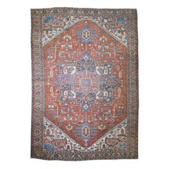 Persian Serapi Heriz Excellent Condition Hand Knotted Oversize Oriental Rug