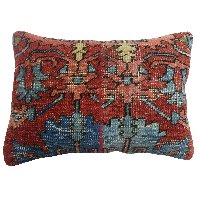 Antique Persian Serapi Lumbar Pillow