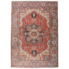 Antique Persian Serapi Oversize Rug