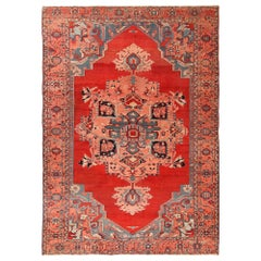 Antique Persian Serapi Rug. Size: 9 ft. 2 in x 13 ft