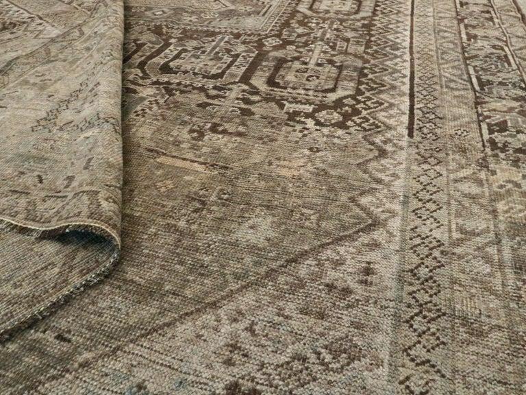 Antique Persian Shiraz Rug For Sale 3