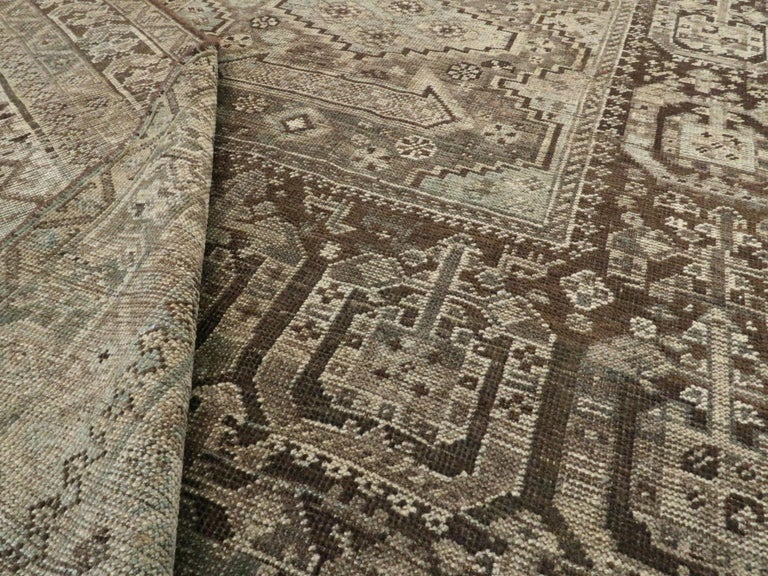 Antique Persian Shiraz Rug For Sale 4
