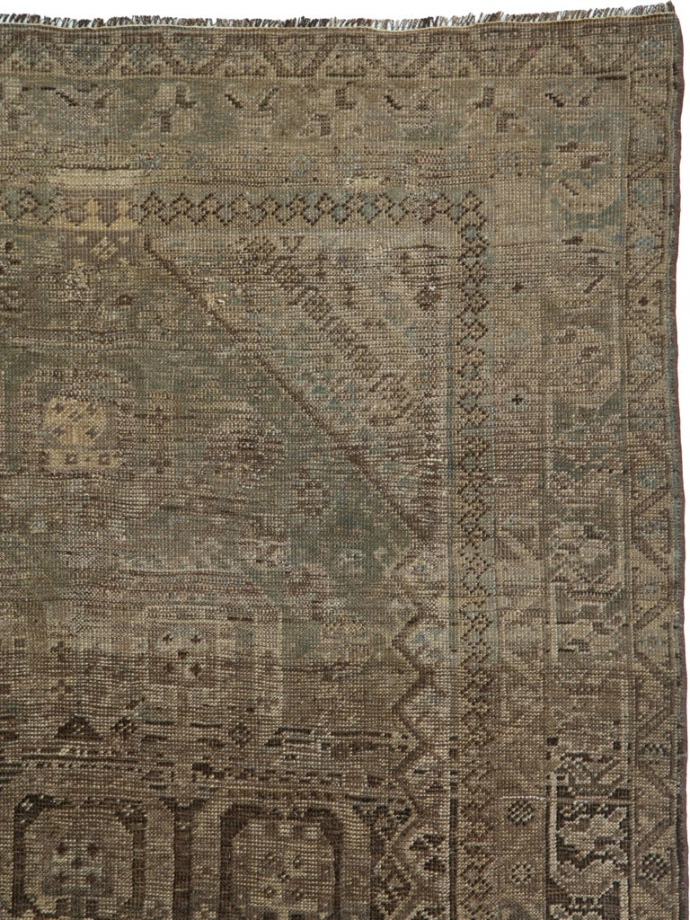 Hand-Knotted Antique Persian Shiraz Rug For Sale