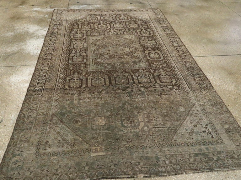 20th Century Antique Persian Shiraz Rug For Sale