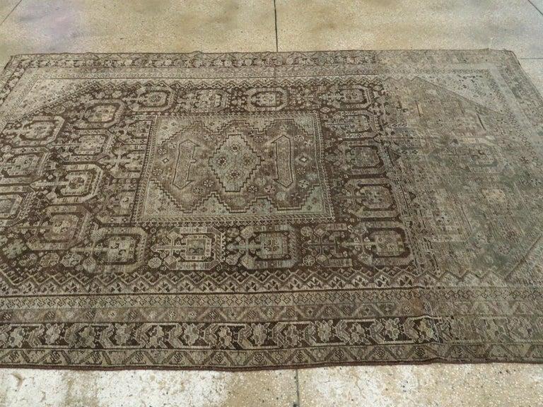 Antique Persian Shiraz Rug For Sale 2