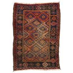 Antique Persian Shiraz Rug with Mid-Century Modern Tribal Style