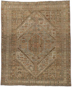 Antique Persian Shiraz Rug with Modern Tribal Style