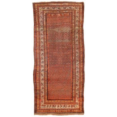 Antique Persian Shiraz Rug with Red and Black Tribal Motif