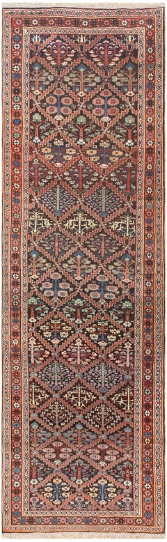 Antique Persian Shrub Design Bidjar Carpet