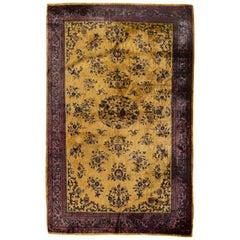 Antique Persian Silk Kashan, circa 1900