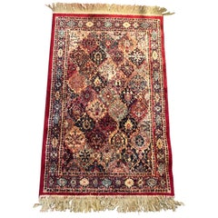 Antique Persian Silk Prayer Mat