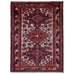 Antique Persian Square Rug Heriz Design