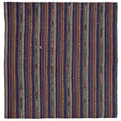 Antique Persian Square Rug Jajim Design