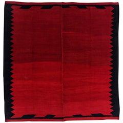 Antique Persian Square Rug Kilim Design
