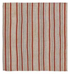 Antique Persian Square Rug Kilim Design, Size: 5'1'' x 5'4''