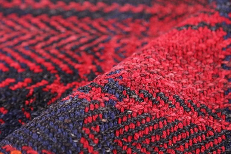 Wool Antique Persian Square Rug Kilim Design For Sale