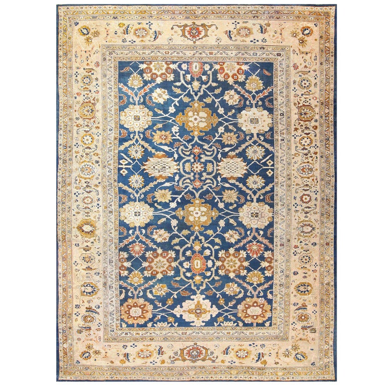 Antique Persian Sultanabad Carpet by Ziegler. Size: 13 ft x 17 ft 7 in For Sale